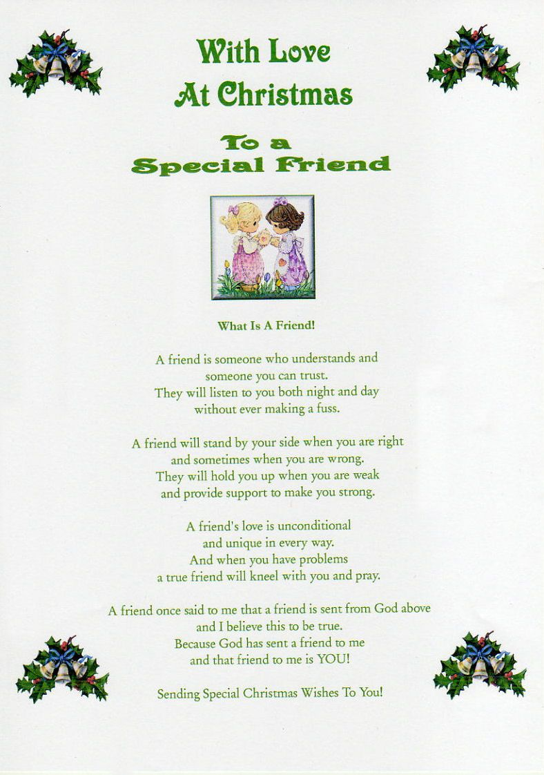 Special friends poems friends christmas laminated poem gifts special friends poems friends christmas laminated poem gifts kristyandbryce Gallery