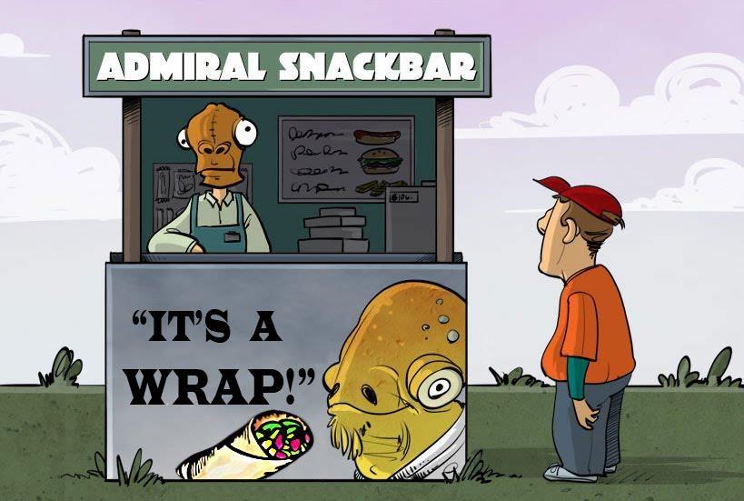 It's a wrap! Duh duh duh! :)