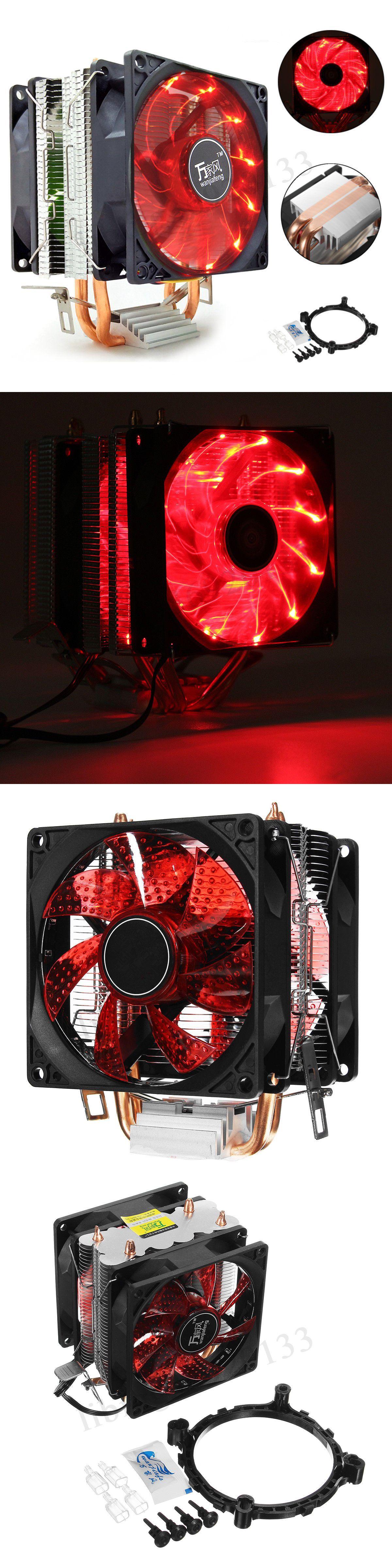 Fans Heat Sinks And Cooling 42000 Cpu Cooler Led Dual Fan Quiet Heatsink For Intel Lga775 1156 Amd Am3 Am4 Ryzen Buy It Now Fans For Sale Graphic Card Ebay