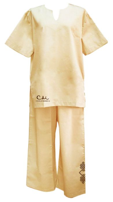 Thai Pyjamas by Silkroad (www.silkroaddesign.com) - exclusively designed for CHI Spa - Shangri-La
