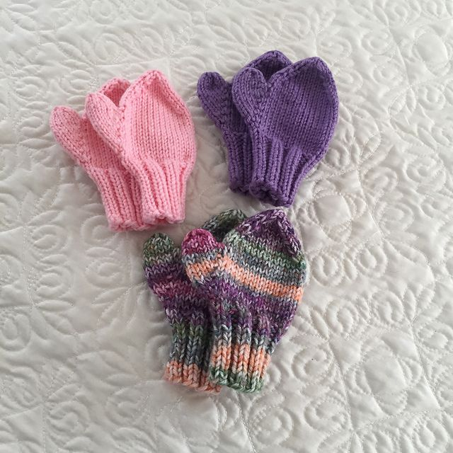 Easy 2-needle toddlers & childs mittens in 2020   Mittens ...