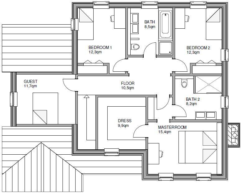 The White House Fertighaus fertighaus twh franklin start hausansicht grundriss 4 grundrisse