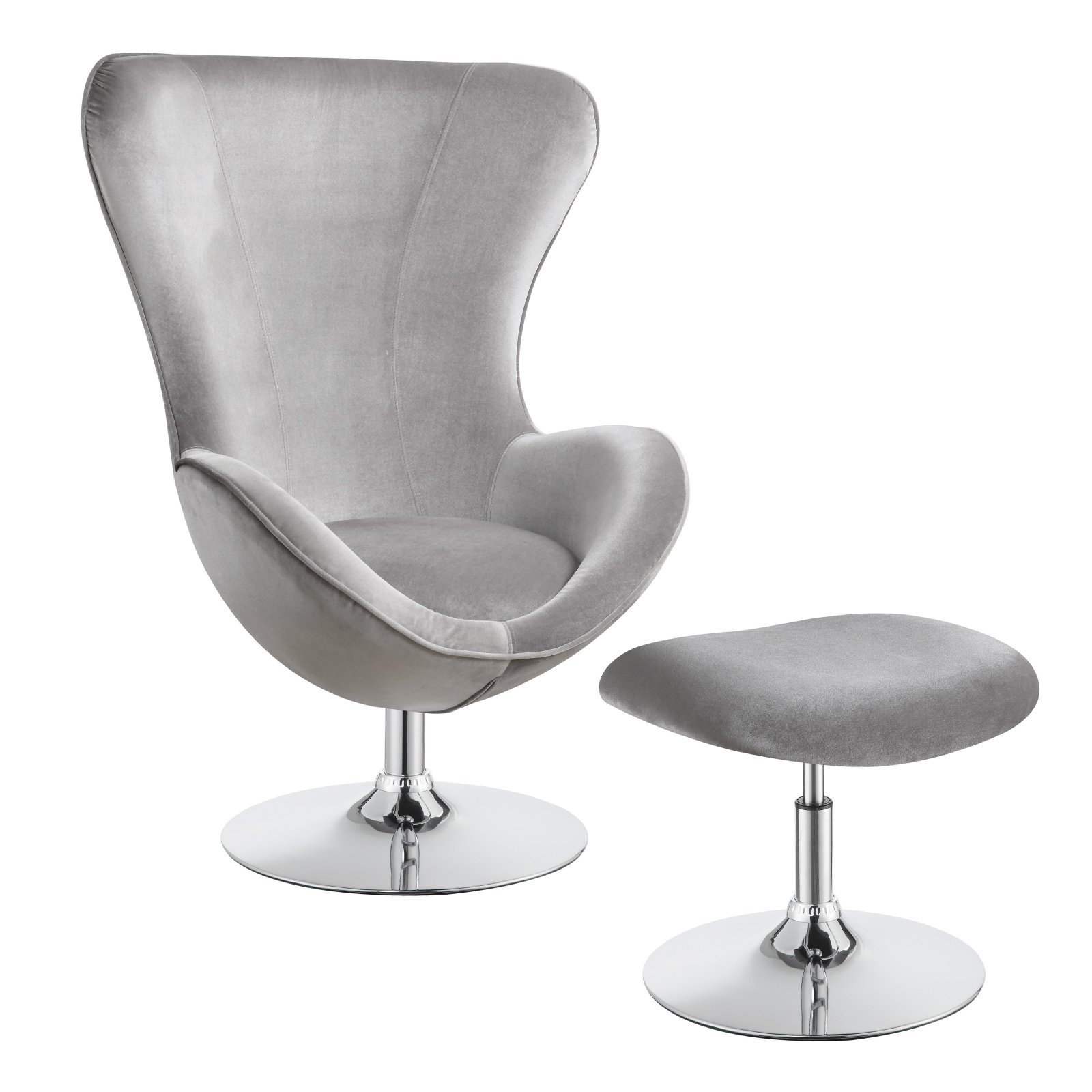 Amazing Coaster Furniture Egg Accent Chair With Ottoman Gray In 2019 Machost Co Dining Chair Design Ideas Machostcouk
