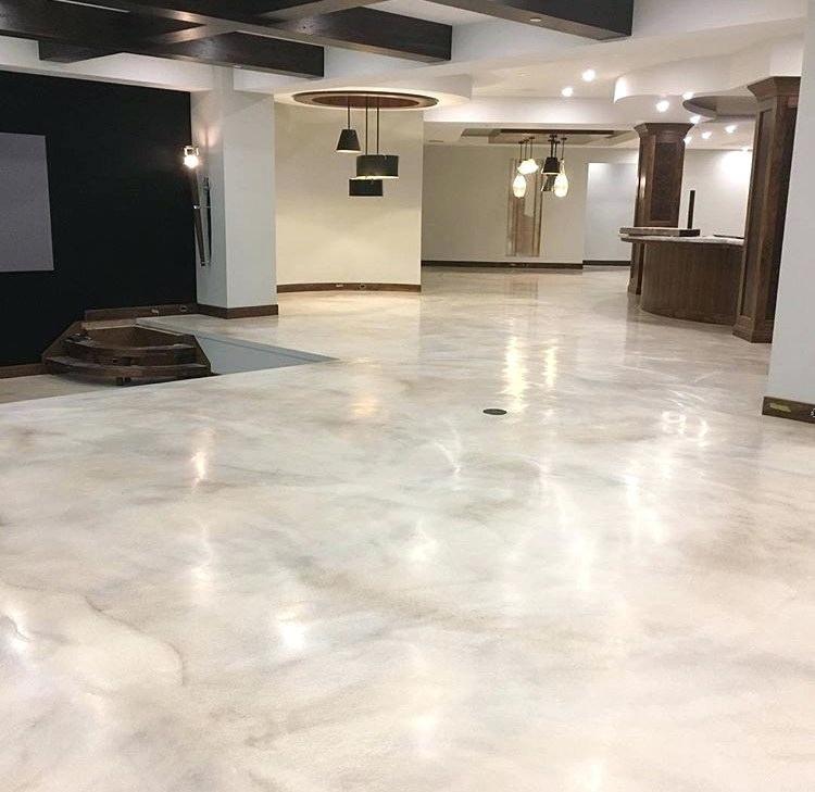 Is Epoxy Flooring Good For Homes Pros Cons Cost Tilen Space Epoxy Floor Basement Metallic Epoxy Floor Epoxy Floor