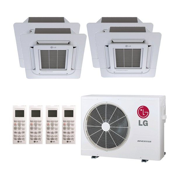 Lg L4h36c09090912 A Ceiling Cassette 4 Zone System 36 000 Btu Outdoor 9k 9k 9k 12k Indoor 22 0 Seer Refrigeration And Air Conditioning Container Cabin