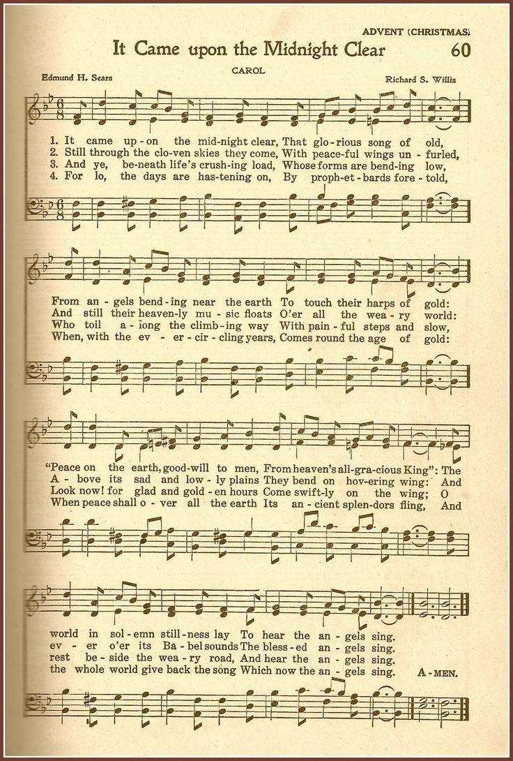 Free Christmas Graphics and Hymns Christmas sheet music
