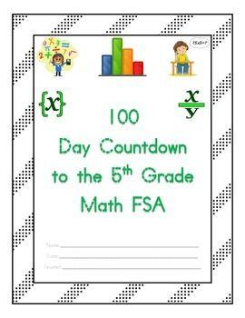 100 Day Countdown to the Math FSA - 5th Grade (Days 1-50