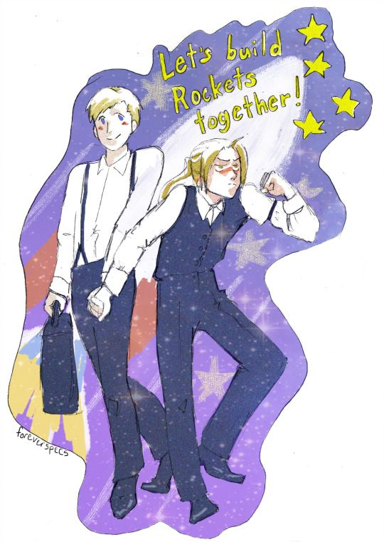Alfons and Ed by foreverspecs | Fullmetal alchemist, Strong arm emoji, Elric brothers