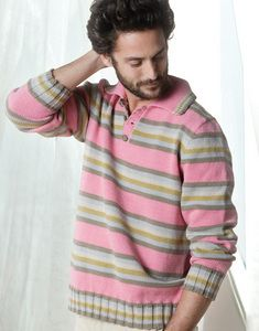Modèle pull homme col polo