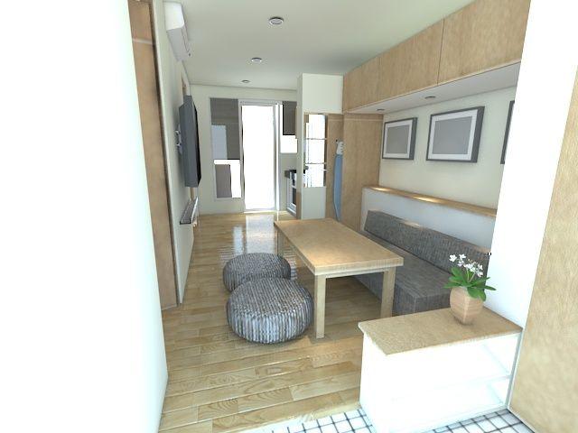Desain Ruang Tamu Mungil Dan Memanjang Portofolio By Arch Id Interior Designer