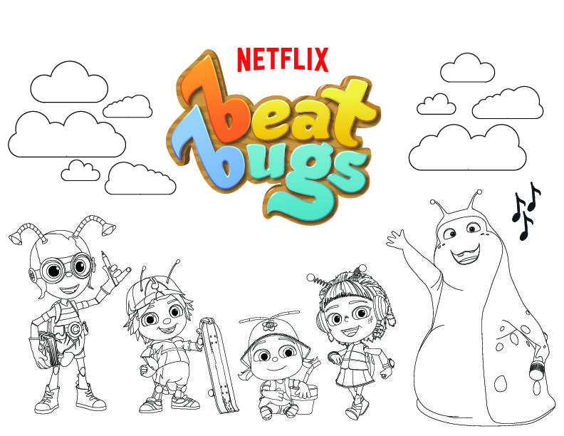 beat bugs coloring pages The Power of Persuasion | Coloring pages | Bugs, Bug coloring  beat bugs coloring pages