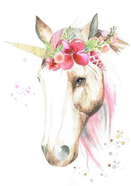 Flowers Crown Drawing Unicorn 18 Ideas #drawing #flowers