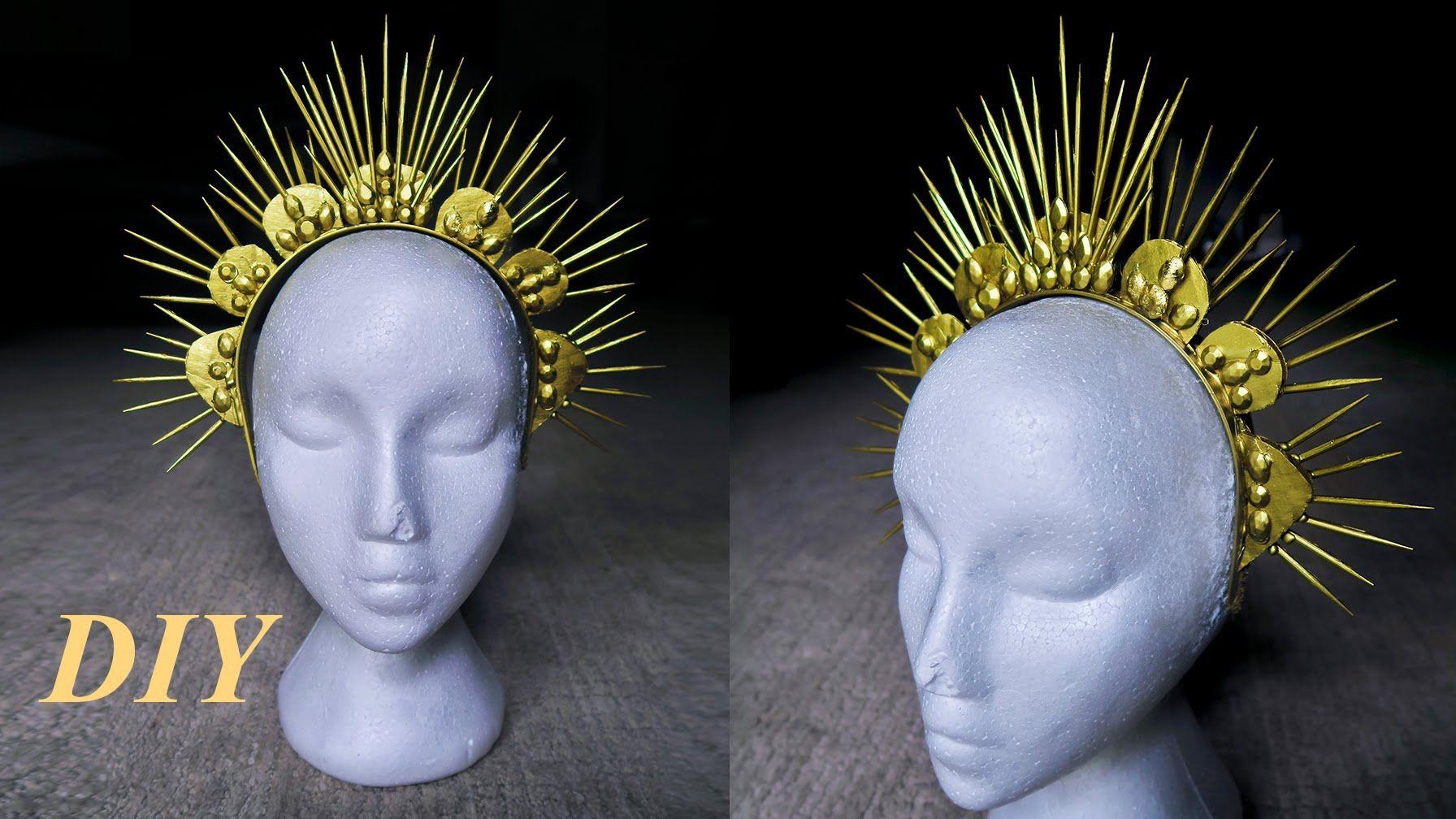 Diy Gold Spike Crown Using Skewers Holidays Pinterest Diy Diy