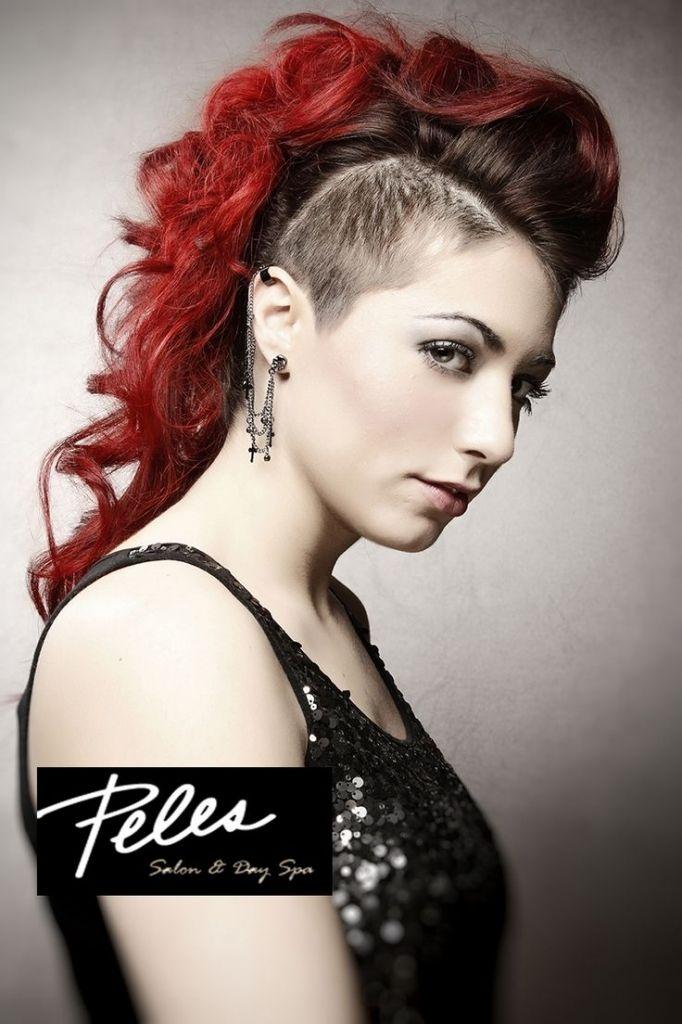Imatge relacionada   Mohawk hairstyles for women, Half ...