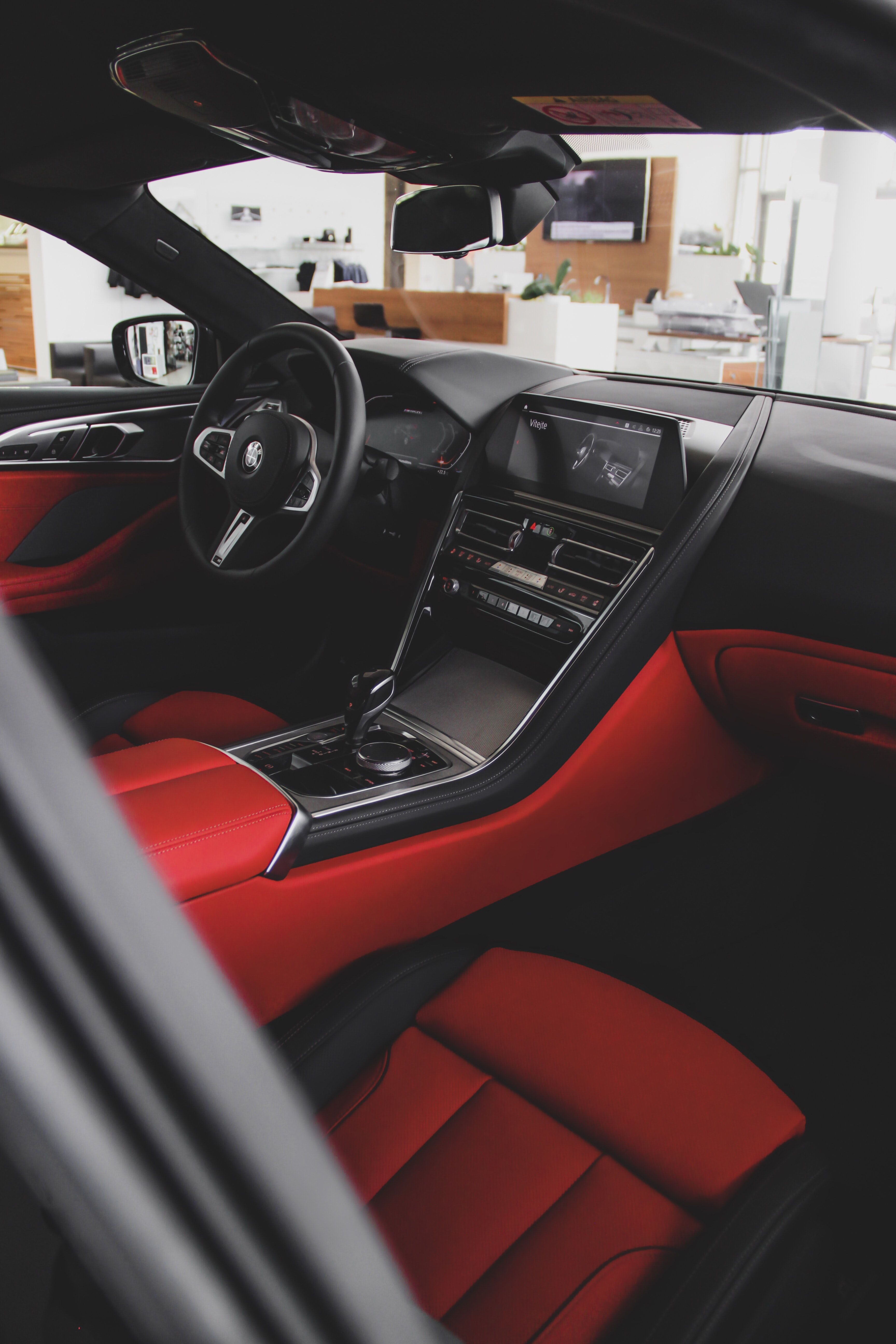 Black And Red Car Interior During Daytime Cars In 2020 Red Interior Car Pink Car Interior Luxury Car Interior