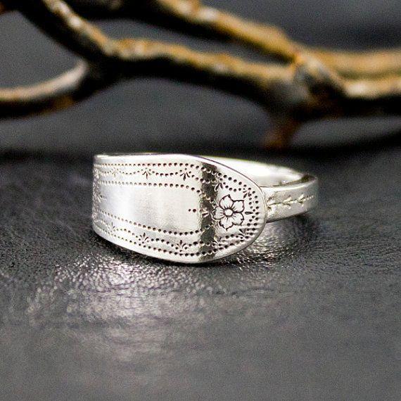 Cool spoon rings Engagement spoon ring trendy spoon ring