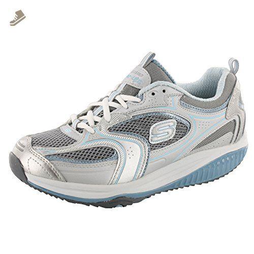 Skechers Shape Ups XF Accelerators Womens 9 M Sneakers Shoes Silver Gray Walking