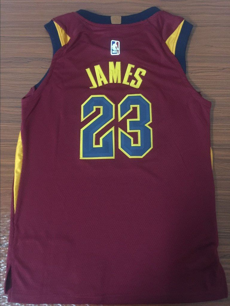 half off c8ae2 92511 Men CAVS 23 Lebron James Jersey Red Cleveland Cavaliers ...