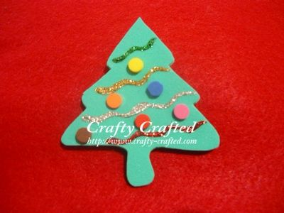 Christmas tree ornaments are getting rather expensive these days. Not only  will it be more sentimental, it'll not burn a hole in your pocket. This foam  Ch