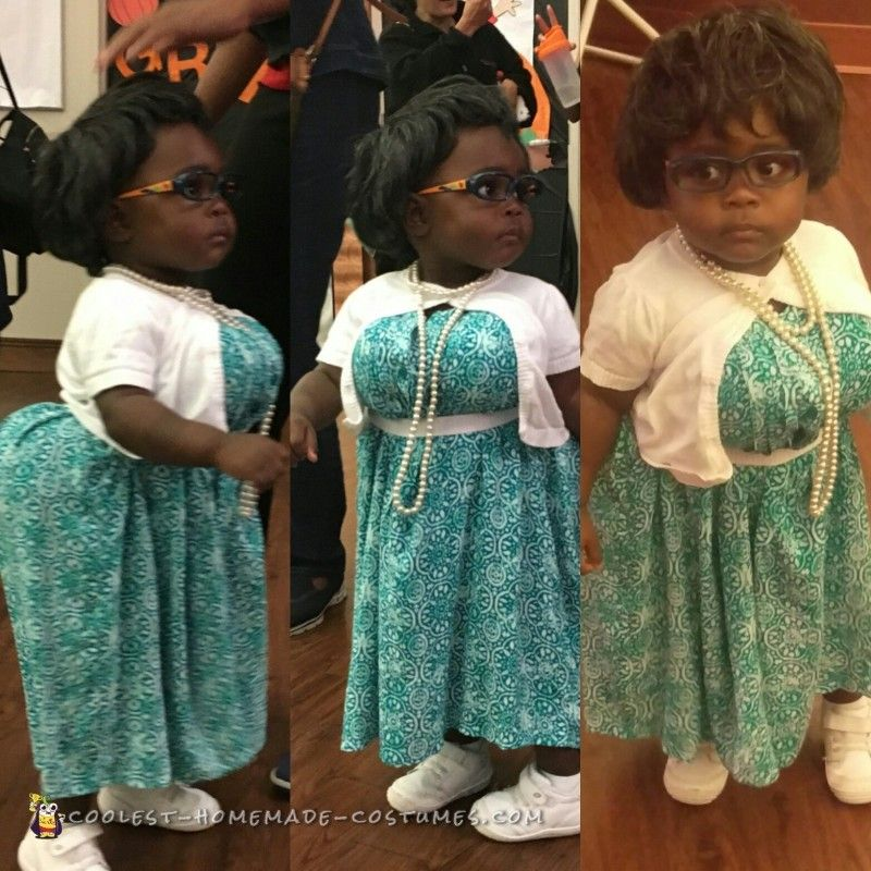 Adorable DIY Madea Halloween Costume for a Toddler Old
