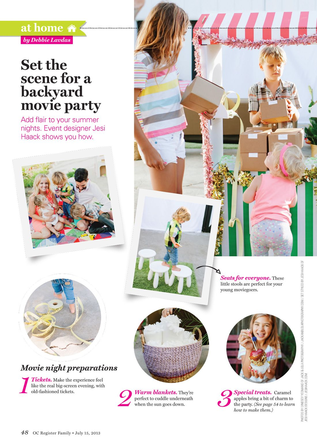Outdoor Movie Party in OC Family magazine. #layout #magazine ...