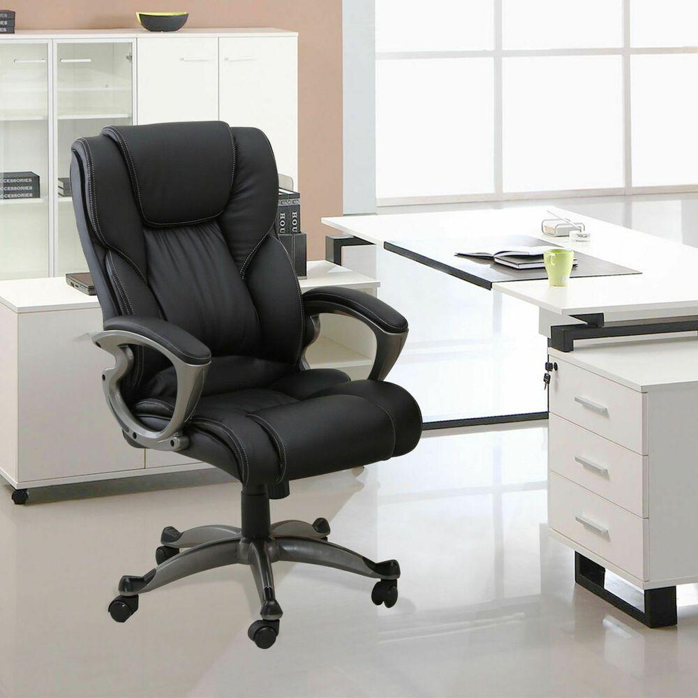 High back pu leather office chair executive task ergonomic
