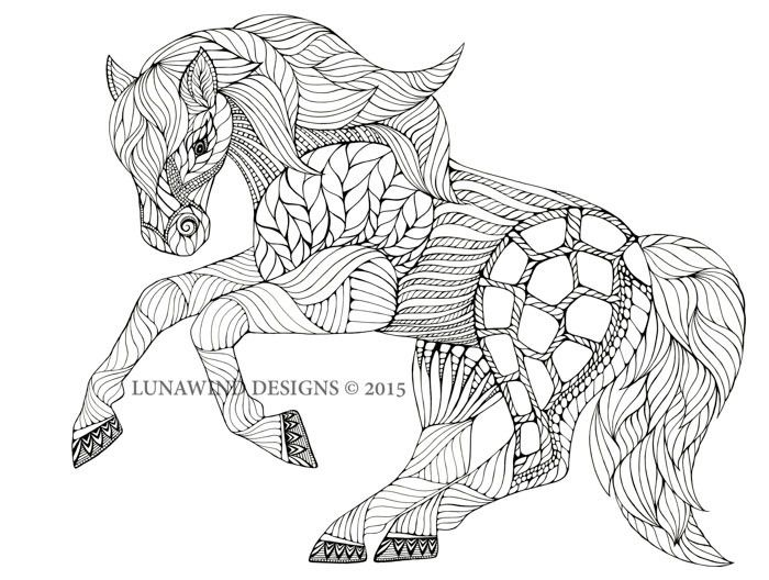intricate horses coloring pages equine equestrian dressage pony 4761