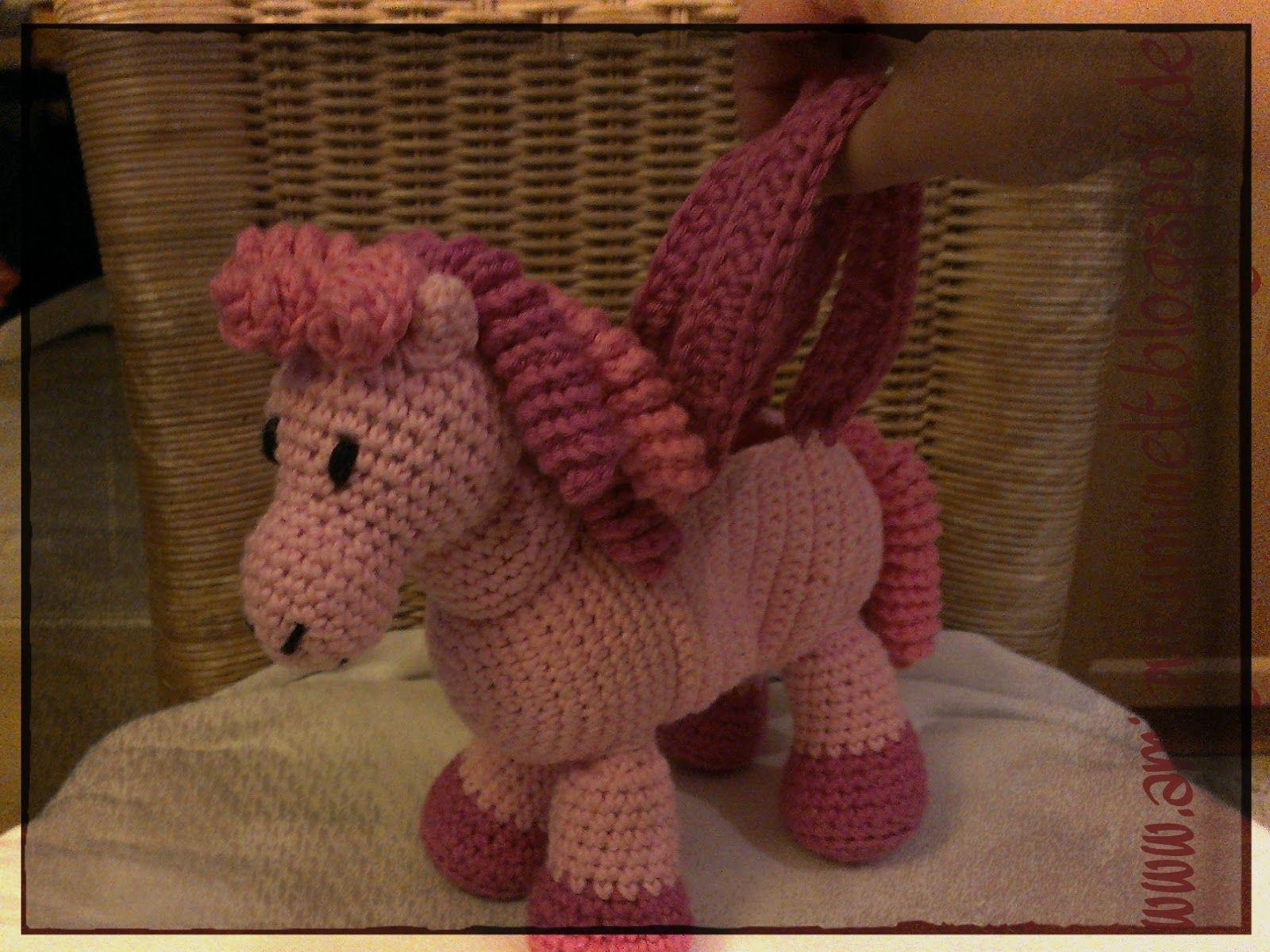 Kostenlose Anleitung Pferd Pony Amigurumi Häkeln Häkeln Tiere
