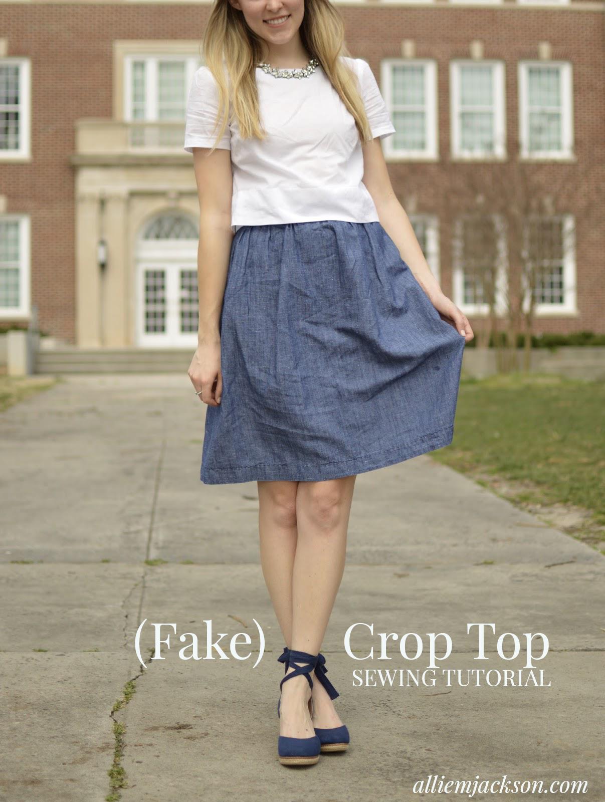 Make your own (fake) crop top