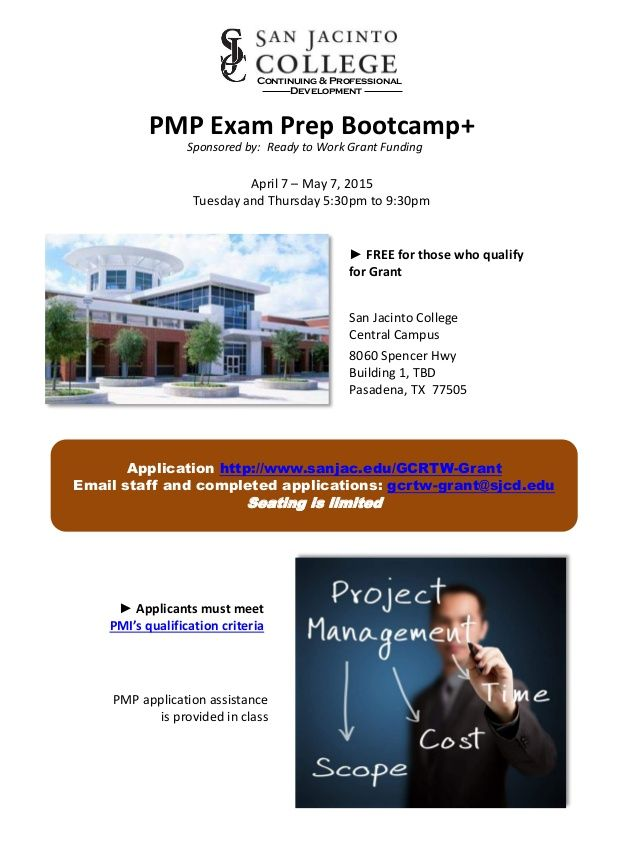 Pmp Exam Prep Bootcamppressed Training Opportunities