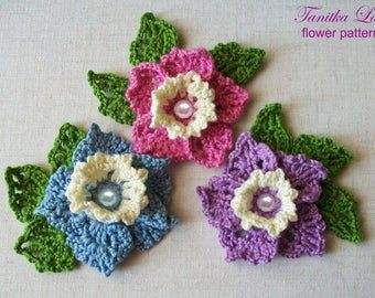 Irish lace, crochet flowers jewelry, bags, accessories by Tanita777