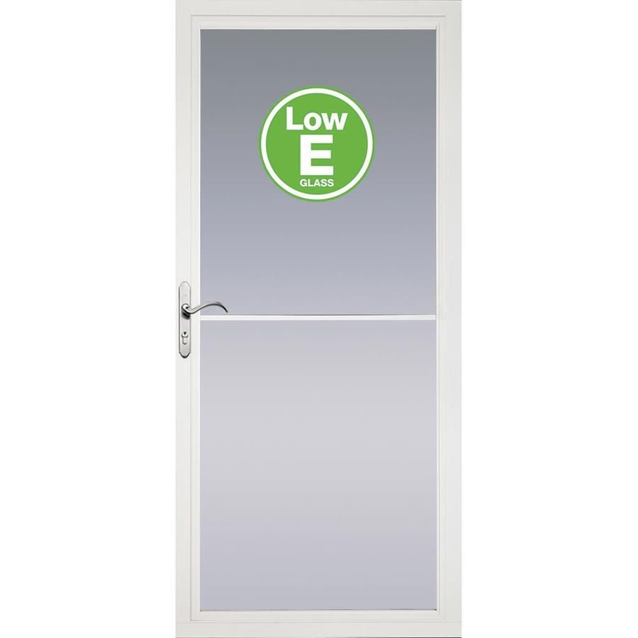 Pella Rolscreen White Full View Aluminum Storm Door With