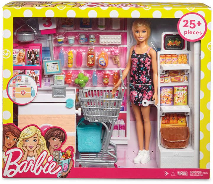 Doll & Supermarket Playset #barbie