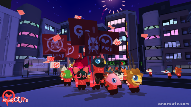 Super cutesy riot sim, Anarcute will be found crashing onto Xbox One