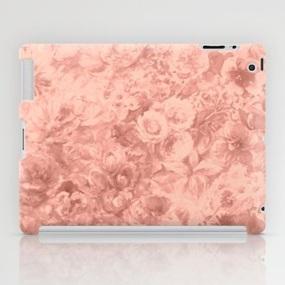 old rose iPad Case #vintage,#ancient rose,#pink