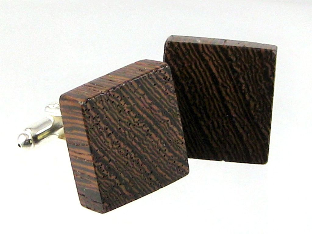 Cufflinks With Plated Silver Post In Wenge Pinterest Woods