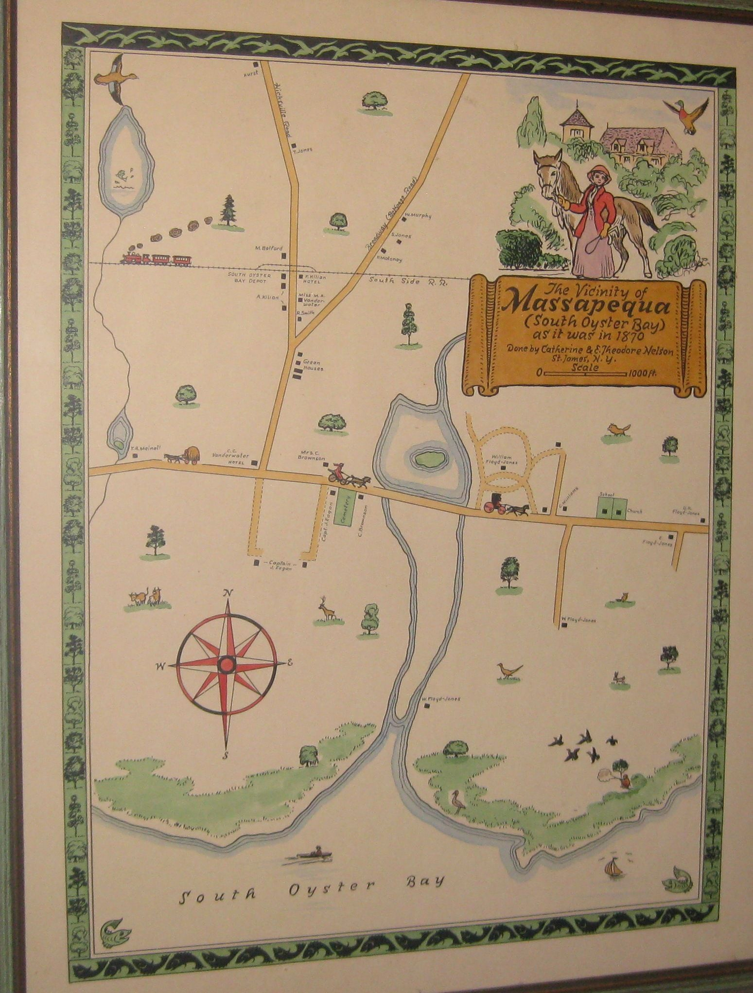 parkside junior high school massapequa and the map of massapequa in the 1870 s the central lake is caroon s lake which in the