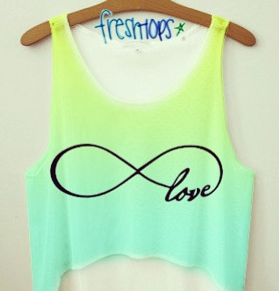 Infinity sign ombre tank!