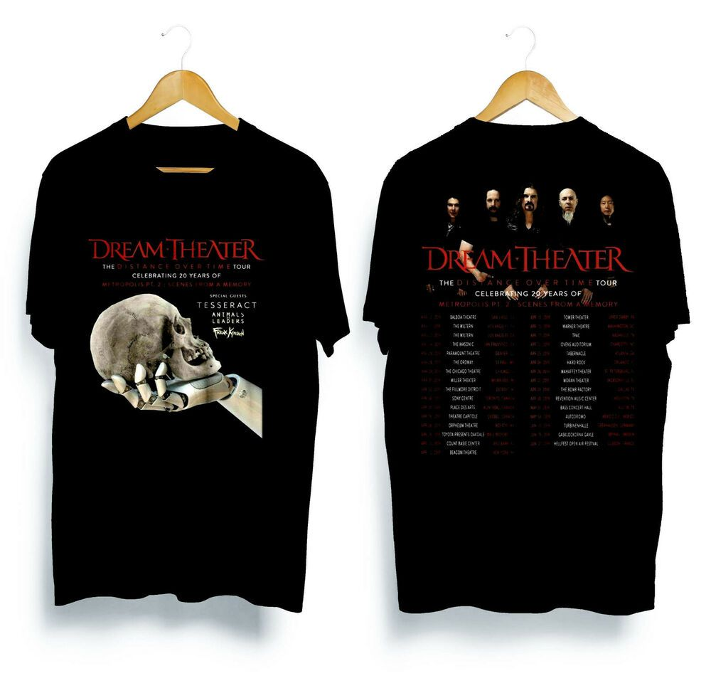 Rare Items Dream Theater The Distance Over Time Tour 2019 T Shirt