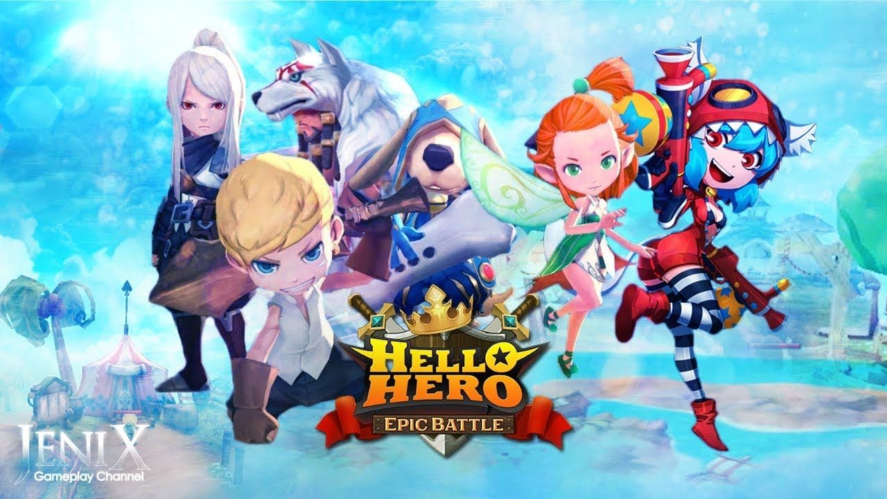 Hello Hero Epic Battle Gameplay Rpg Android Ios English
