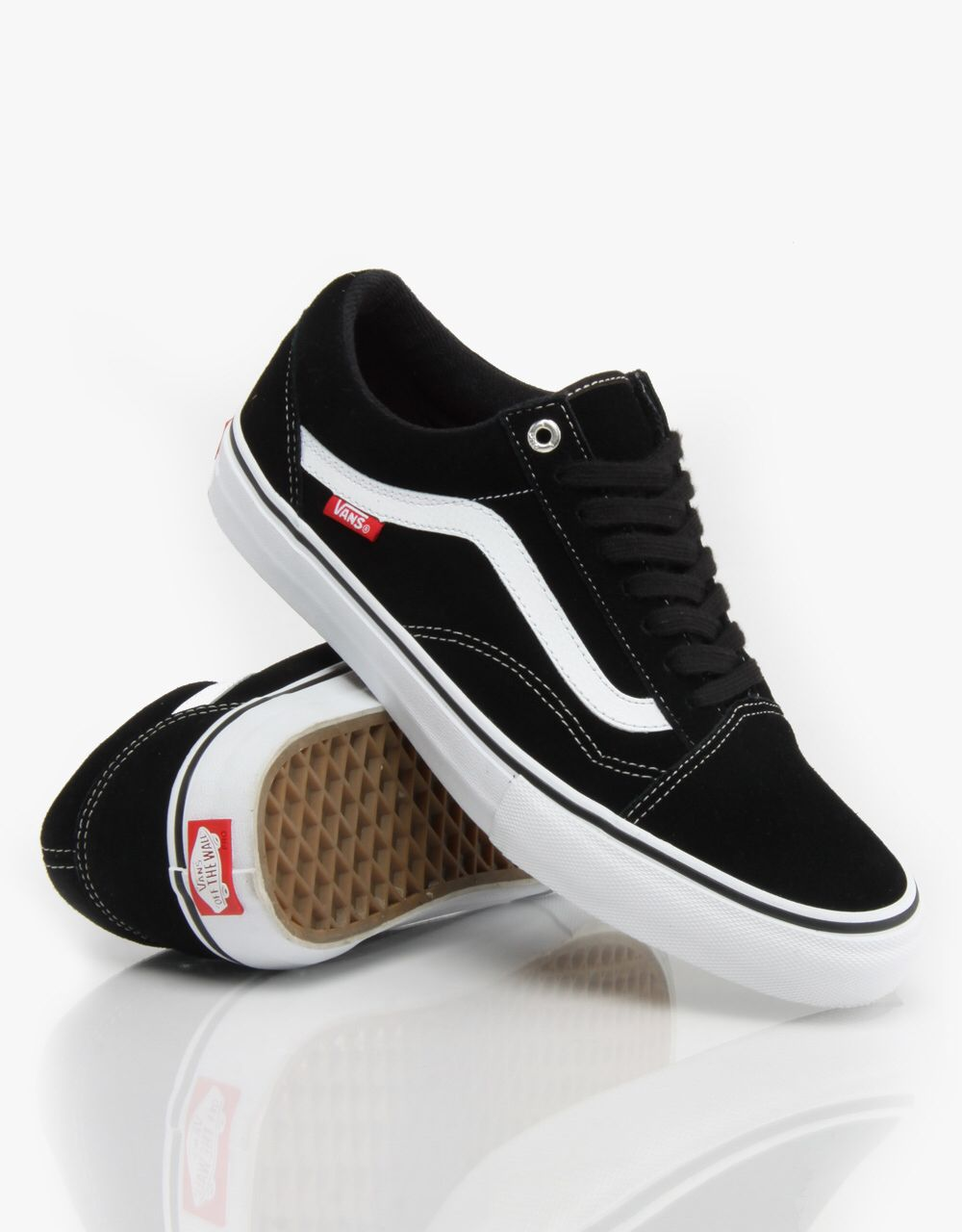 Vans old skool pro with black laces