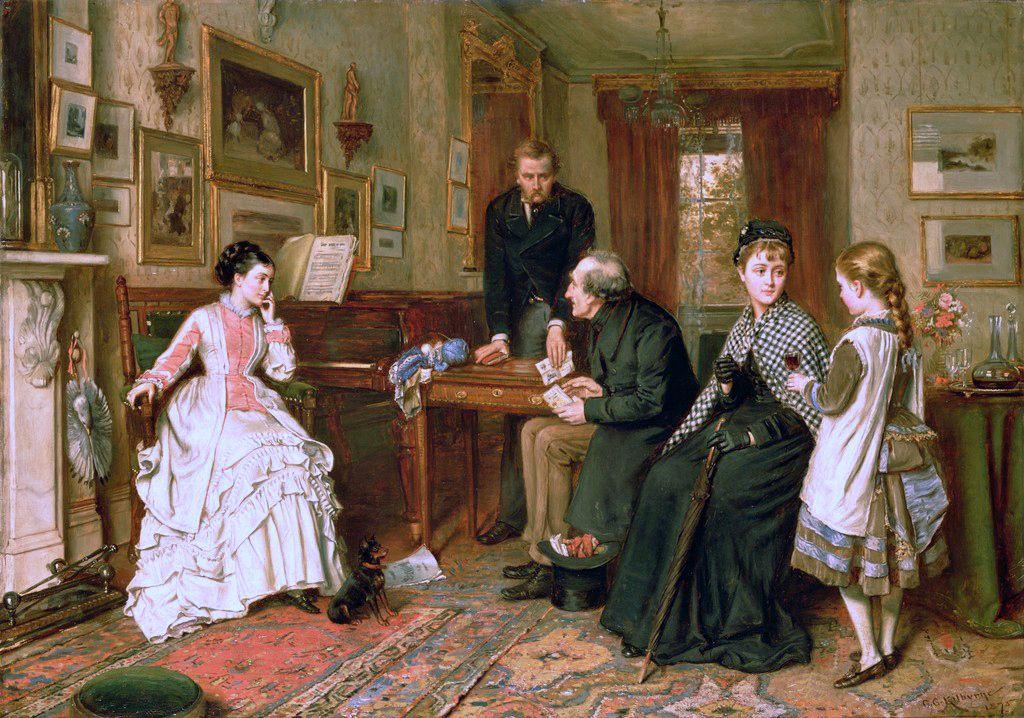 George Goodwin Kilburne Poor Relations Victorian Paintings