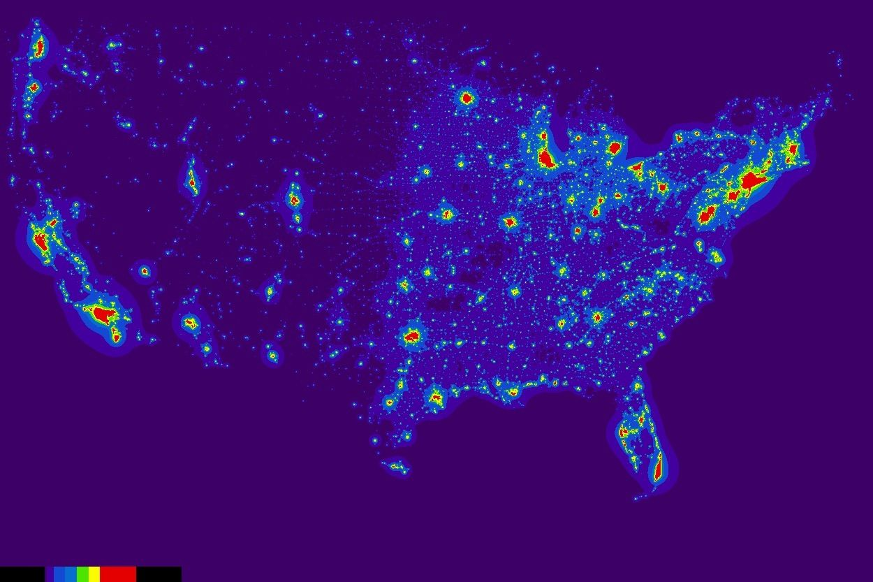 Pin By Cheryl Deneve On Photos Map Light Pollution Historical Maps - Us-dark-sky-map