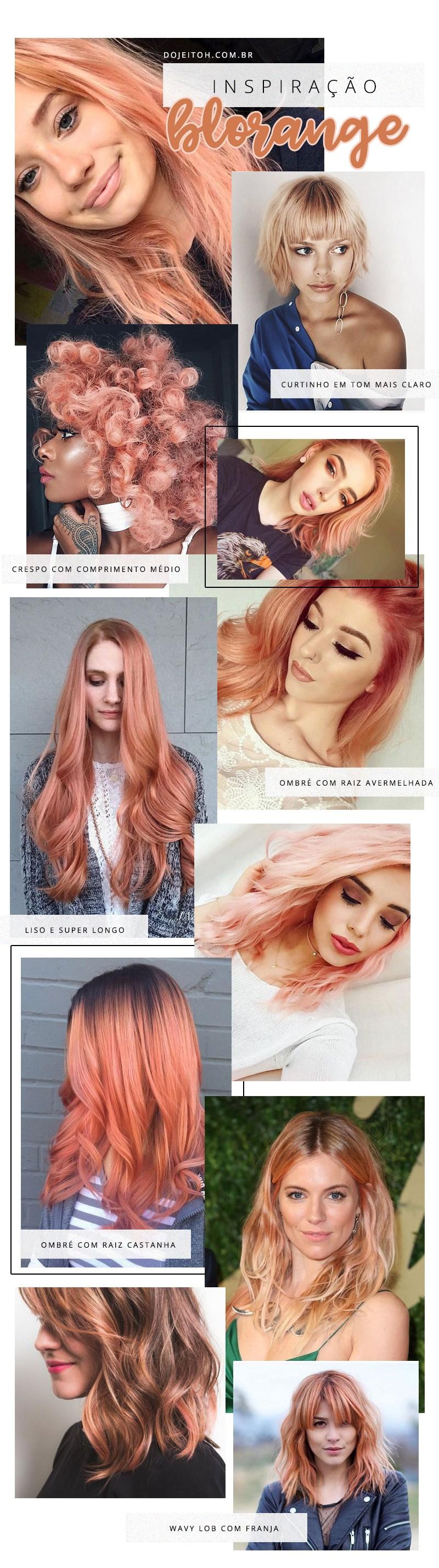 Tendência cabelo blorange hair u beauty pinterest blorange