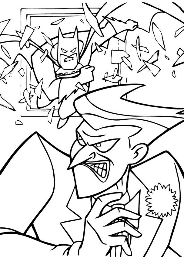Batman And Joker Coloring Pages : batman, joker, coloring, pages, Joker, Coloring, Pages, Cartoon, Pages,, Batman, Inspirational