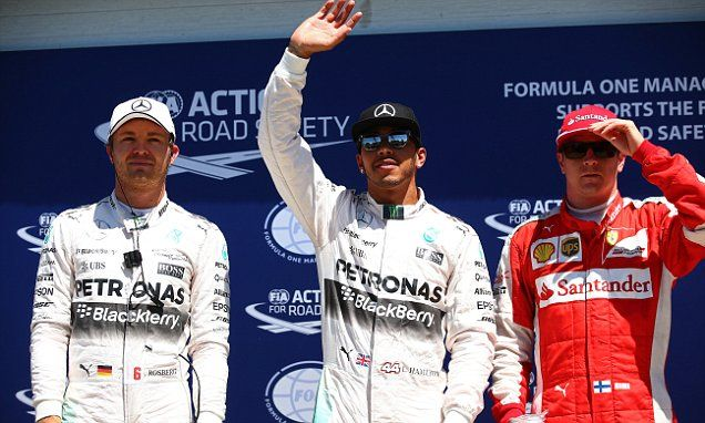Hamilton secures pole position for Canadian GP ahead of Rosberg