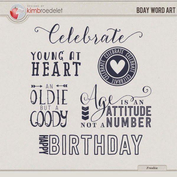 Free birthday word art Project life freebies, Frees and Template - free birthday templates for word
