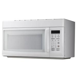 1 6 Cu Ft Over The Range Microwave In White Mco165uw The Home Depot Range Microwave Magic Chef Microwave