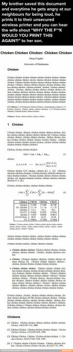 Chicken.... LOL