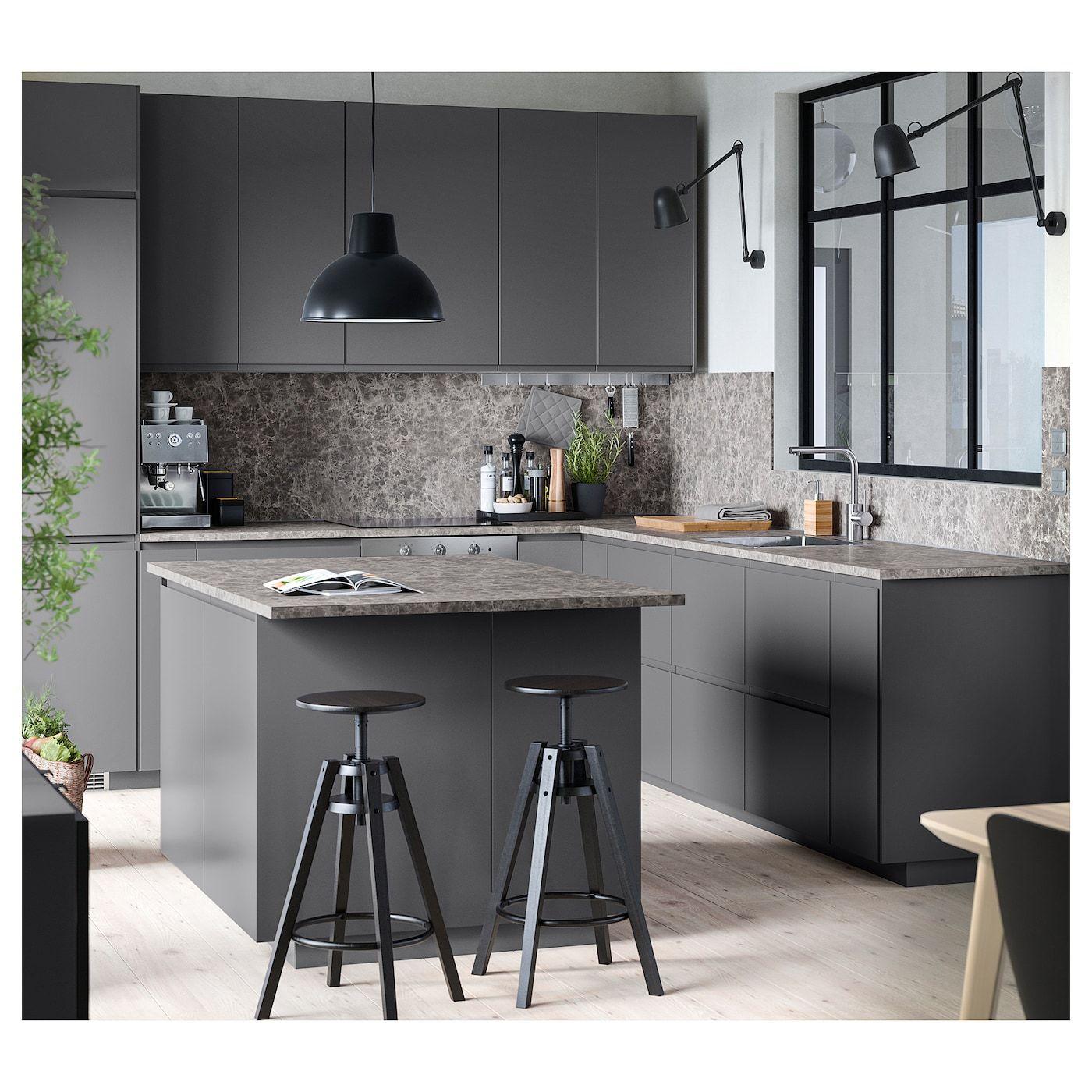 Ikea Ekbacken Countertop Dark Gray Marble Effect Laminate